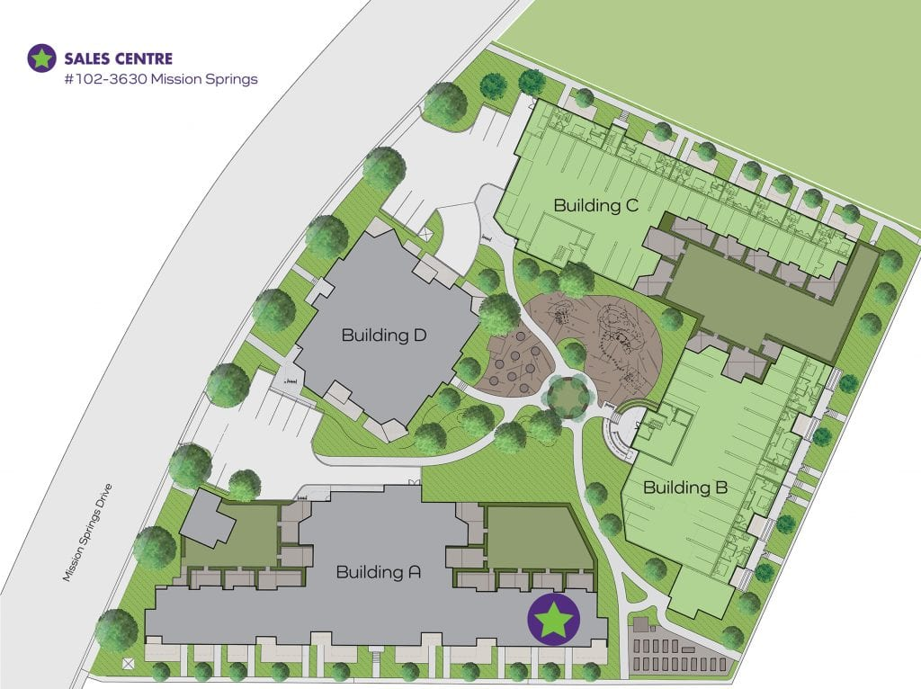 Green Square Vert Site Map
