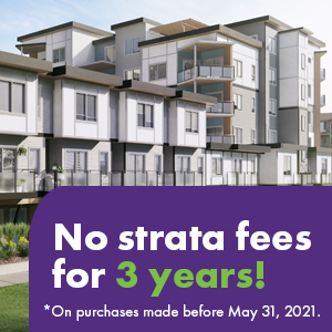 No strata fees for 3 years